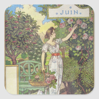 June Square Sticker