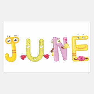 June Sticker