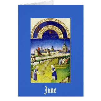 June - the Tres Riches Heures du Duc de Berry Card
