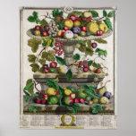 June, 'Twelve Months of Fruits' Poster