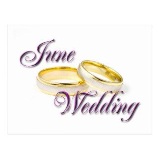 JUNE WEDDING POSTCARD
