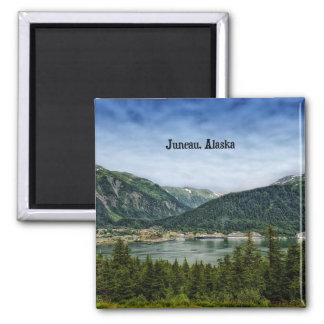 Juneau, Alaska Square Magnet