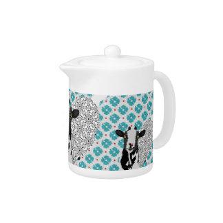 Junebug Art Blue  Teapot