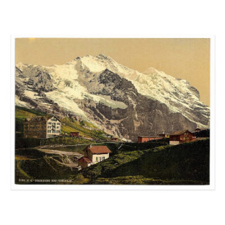 Jungfrau and Scheidegg, Bernese Oberland, Switzerl Postcard