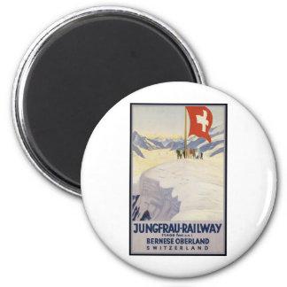 Jungfrau-Railway Bernese oberland 6 Cm Round Magnet