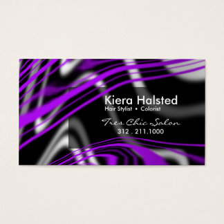 Jungle-1 Business Card (purple/black)