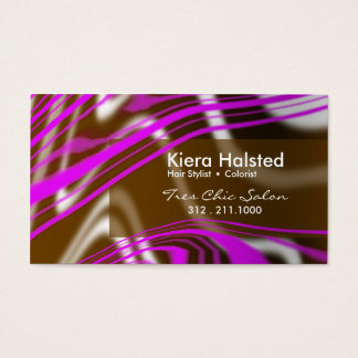 Jungle-1 Business Card (violet/brown)