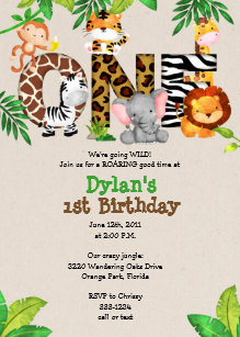jungle invitations announcements zazzle uk