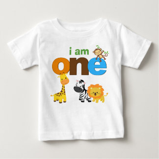 Jungle 1st Birthday Tshirt Toddler Baby Kid