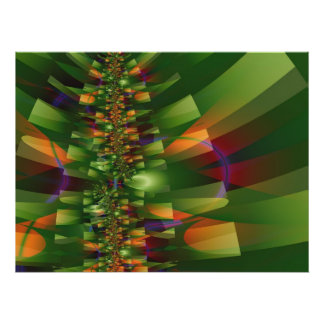 Jungle 2 Abstract Art Poster