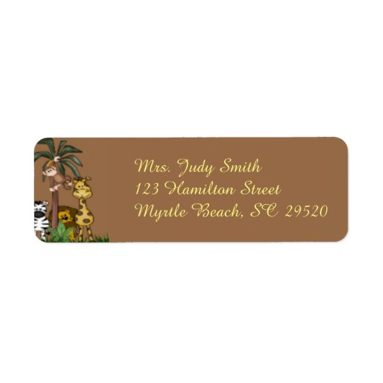 Jungle Address Label