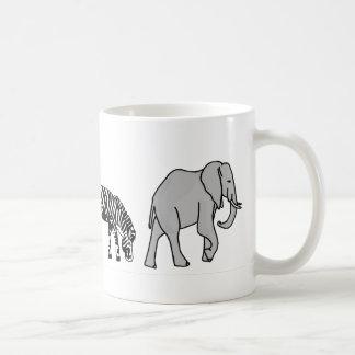 Jungle Animal Basic White Mug
