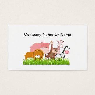 Jungle Animal Business Cards