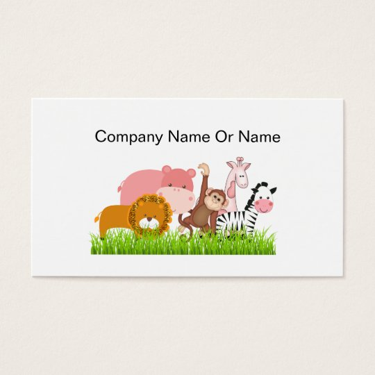 Jungle Animal Business Cards