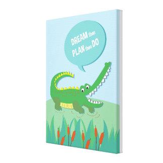 Jungle Animal Crocodile _ inspirational kids quote Canvas Prints