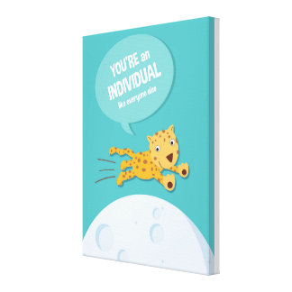 Jungle Animal Leopard _ inspirational kids quote Stretched Canvas Print