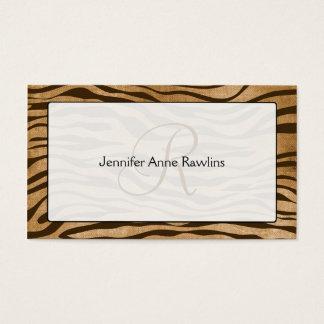 Jungle Animal Print Monogram Initial