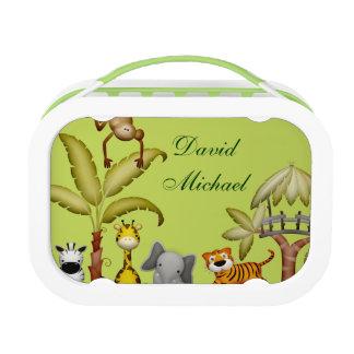Jungle Animal Safari Celebration Baby Shower Lunch Box