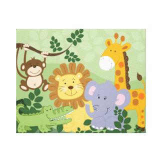 Jungle Animal Safari Nursery Art Canvas 16x20 Stretched Canvas Prints