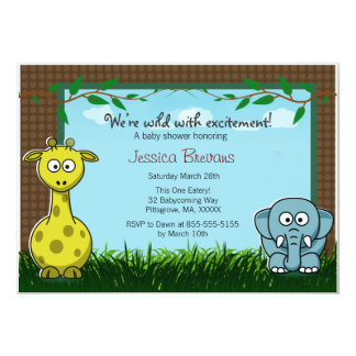 Jungle Animal theme Inviation Card