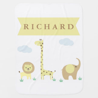 Jungle Animals Baby Blanket