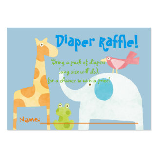 Jungle Animals Baby Shower Diaper Raffle Tickets Pack Of Chubby Business Cards