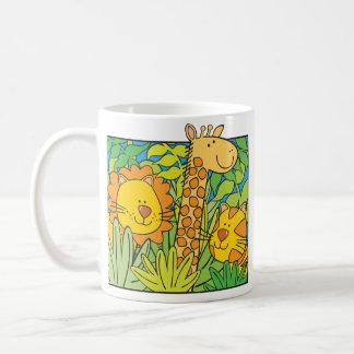 Jungle Animals Basic White Mug