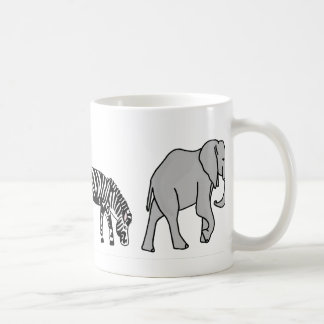 Jungle Animals Basic White Mug