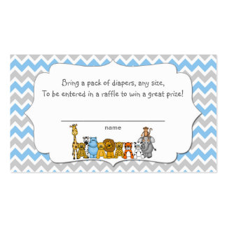 Jungle Animals Diaper Raffle Tickets boy Pack Of Standard Business Cards