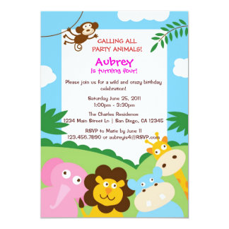 Jungle Animals Invitation