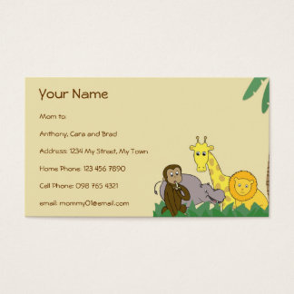 Jungle Animals Mommy Calling / Networking Card