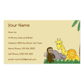 Jungle Animals Mommy Calling Networking Card Business Card