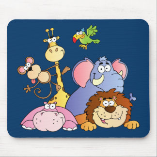 Jungle Animals Mouse Pad
