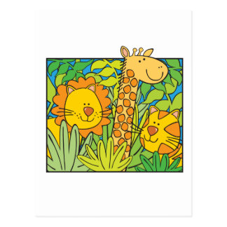Jungle Animals Postcard