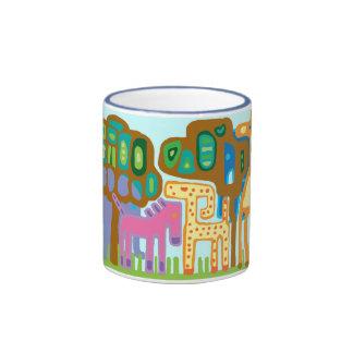 jungle animals ringer mug