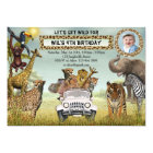 Jungle Animals Safari Birthday Photo Invitation