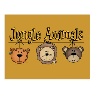 Jungle Animals T-shirts and Gifts Post Card