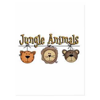 Jungle Animals T-shirts and Gifts Postcard