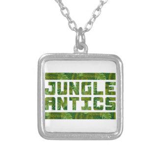 Jungle Antics Bold Tropical Text Necklace