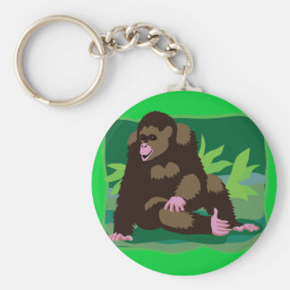Jungle Ape Basic Round Button Key Ring