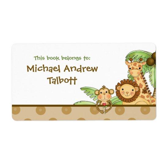 Jungle Babies - Book Label
