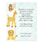 Jungle Babies, Boy Baby Shower Invitation 4- Green