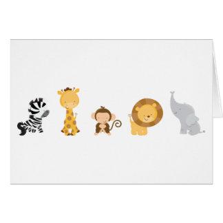 Jungle Babies Greeting Card