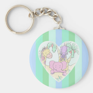 Jungle Baby Heart Blessings- boy Key Chains