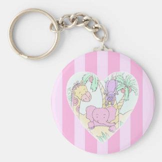 Jungle Baby Heart Blessings- girl Key Ring