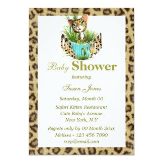 Jungle baby reveal shower PERSONALIZE Personalized Announcement
