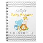 Jungle Baby Shower Chevron Custom Guest Book