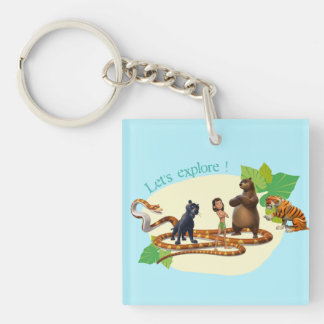 Jungle Book Group Shot 4 Double-Sided Square Acrylic Keychain