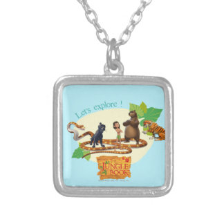 Jungle Book Group Shot 4 Silver Plated Necklace
