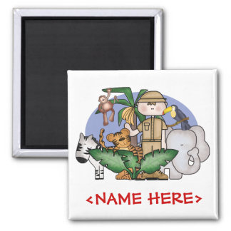 Jungle Boy Square Magnet